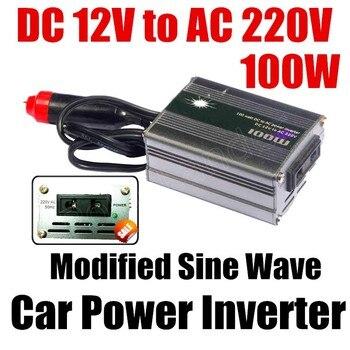 DC 12v a AC 220v USB cargador modificado sine wave coche voltaje transformador gran oferta 100W coche convertidor/inversor de potencia