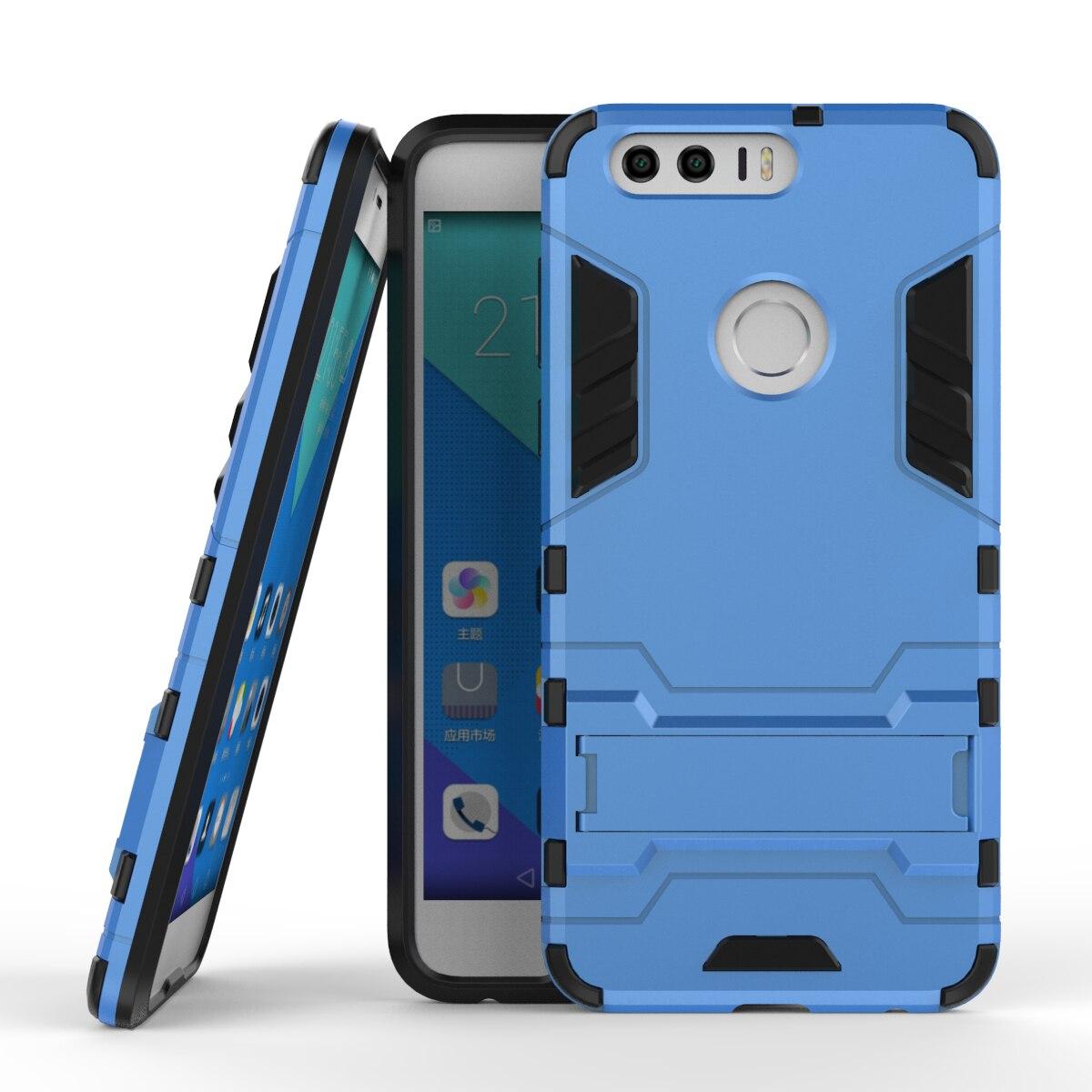 Per Huawei Honor 8 Caso Heavy Duty Armatura Caso Ibrido Duro robusta Gomma di Silicone Copertura Del Telefono Per Huawei Honor 8 5.2 pollice (
