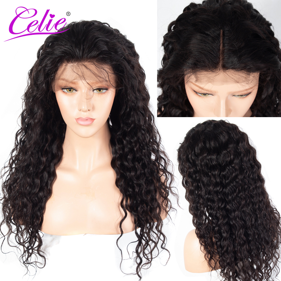 Celie Brazilian Water Wave 13x6 Lace Frontal Wig PrePlucked With Baby Hair Remy 150 180 250