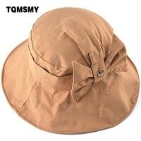 TQMSMY Sun Hat Women Bow Tie Bucket Hats Women S Summer Wide Brim UV Protection Accessary