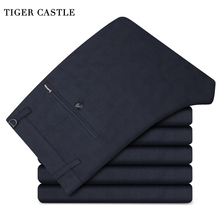 TIGER CASTLE Cotton Classic Men Large Size 38 Long Trousers Commercial Wedding Formal Male Business Pants Brand-Clothing