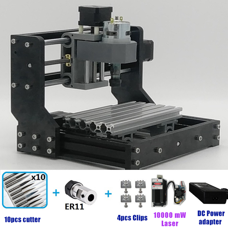 CNC1810 Laser Engraving Machine Mini Laser engraver GRBL ER11 Spindle Hobby Tool Mini CNC Router Table 180*100*45 CNC 1610PROCNC1810 Laser Engraving Machine Mini Laser engraver GRBL ER11 Spindle Hobby Tool Mini CNC Router Table 180*100*45 CNC 1610PRO