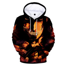 Anime Attack On Titan 3D Digital Print casual Sweater Pocket Hooded Sweatshirt Big Pockets Hoodie Sweatshirt Long Sleeve coat