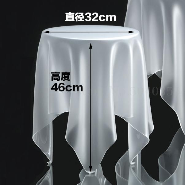 Прозрачный журнальный Столик Круглый акриловый привиденный стол плавающая Волшебная скатерть креативная сторона для обсуждения журнального стола для отдыха - Цвет: 32cm