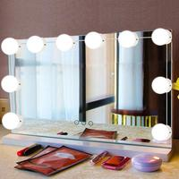 10Pcs LED Makeup Comestic Mirror Light Kit with Dimmable Light Bulb Adjustable Brightness lights 7000K