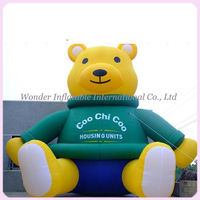 Custom design giant mascot cartoon figure inflatable bear for advertising/promotional
