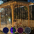 6Mx3M 600LED Window Curtain Lights String Fairy Lamp Wedding Party Decor holiday Lighting String l61220