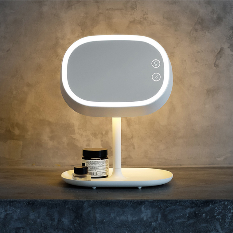 Vanity Light LED Cosmetic Makeup Mirror Lamp Portable Night Light Table Lamp 180Degrees Rotatable with Touch Switch Rechargeable