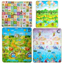 180x 150cm Baby Crawling Play Mat Double-Site Climb Pad Fruit Letter Kids Play Game Mat Kids Toys Gift