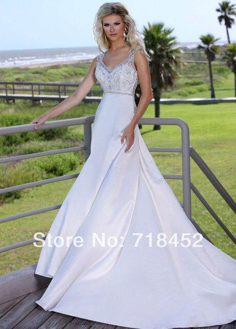 2014 insel Brautkleider mit Spitze Eine Linie Vestidos De Novia ...