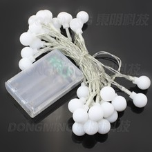 3M 30LED 10pcs fairy Cherry battery led ball string light Christmas New year Holiday Party Wedding Lamp lighting decoration