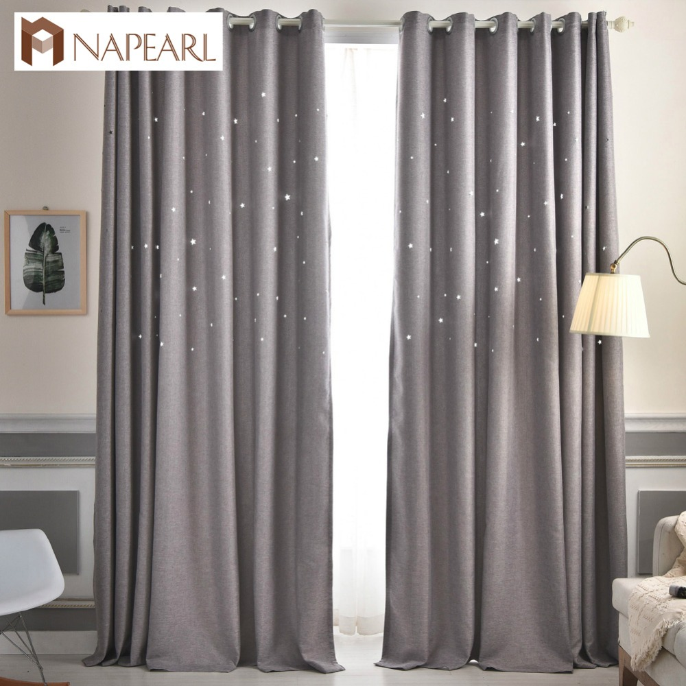 Plain Dyed Blackout Curtain Kitchen Door Window Curtains For Living Room Full Shade Panel Solid Color Window Treatments