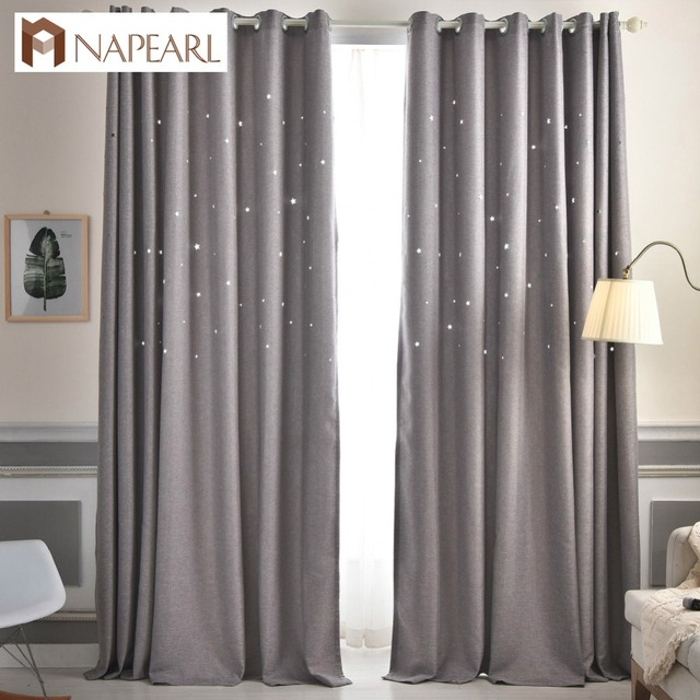 Etonnant Plain Dyed Blackout Curtain Kitchen Door Window Curtains For Living Room  Full Shade Panel Solid Color