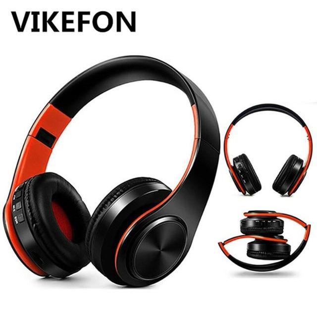 5.0 Bluetooth słuchawka Hi-Fi mocny bas Stereo bezprzewodowe słuchawki do gier zestaw słuchawkowy z mikrofonem/TF karty/FM dla tablet z funkcją telefonu zestaw głośnomówiący