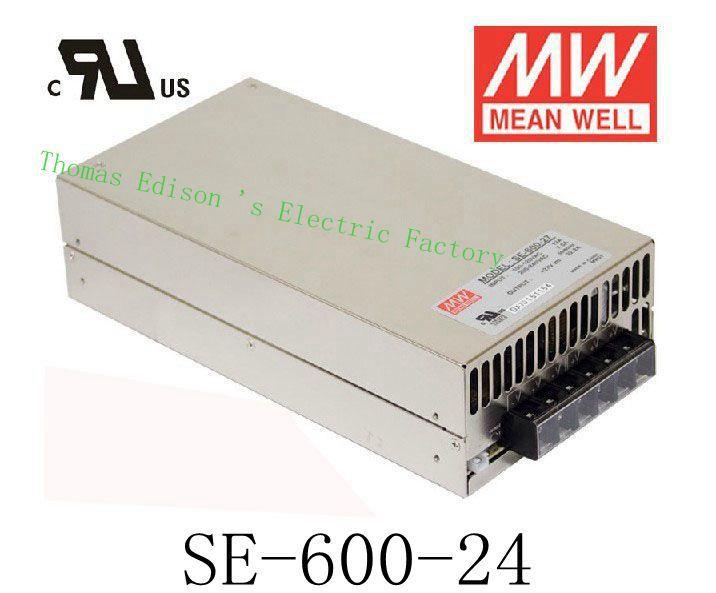 DIANQI Original MEAN WELL power suply unit ac to dc power supply SE-600-24 600W 24V 25A MEANWELL mean well apc 25 600 waterproof ip67 25w power supply grayish white 100 240v