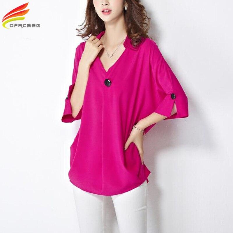 Blouses 2018 Summer Tops 4XL 5XL Plus Size Women Clothing Half Sleeve Women Blouses Fashion Blusas