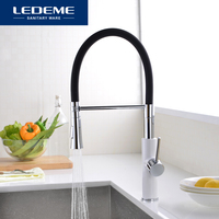 LEDEME Kitchen Faucet Water Taps Rubber Tube Mixer Torneira Kitchen Sink Faucet Mixer Crane Taps Brass