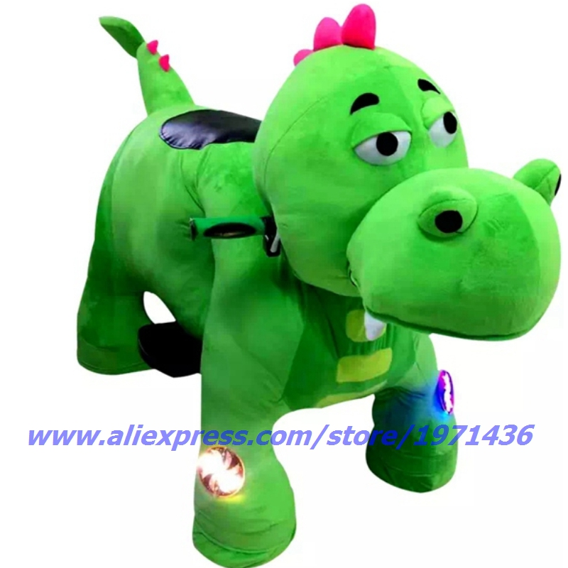 Remote Control Battery Coin Operated Electric Cute Plush Animal Ride On Toys