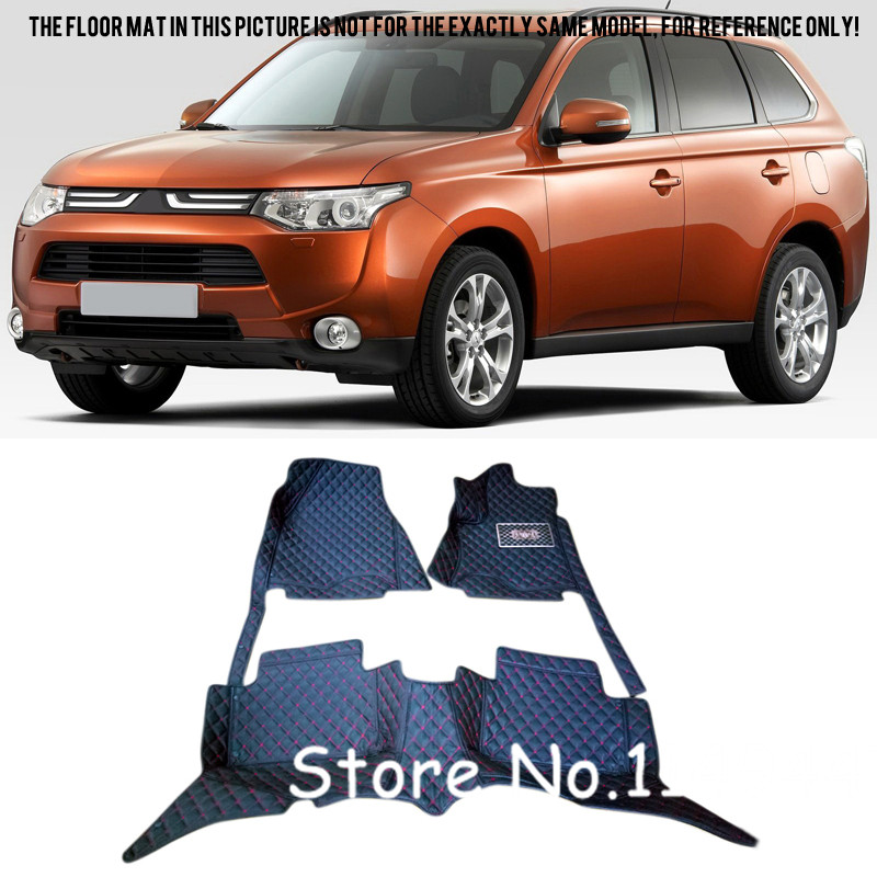 For Mitsubishi Outlander 7 seats 2013 2014 2015 2016  Interior Front & Rear Floor Mats Carpets Liners Car Styling car rear trunk security shield shade cargo cover for mitsubishi outlander 2013 2014 2015 2016 2017 black beige