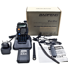 BAOFENG New Dual Band UV-5RE Plus Amateur Handheld Two Way Radio UHF/VHF 128 Channels FM Ham walkie talkie Transceiver  Earpiece