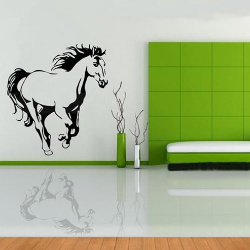 galloping horse wall murals wall art cavalo animal poster stencils for wall decals horses. Black Bedroom Furniture Sets. Home Design Ideas