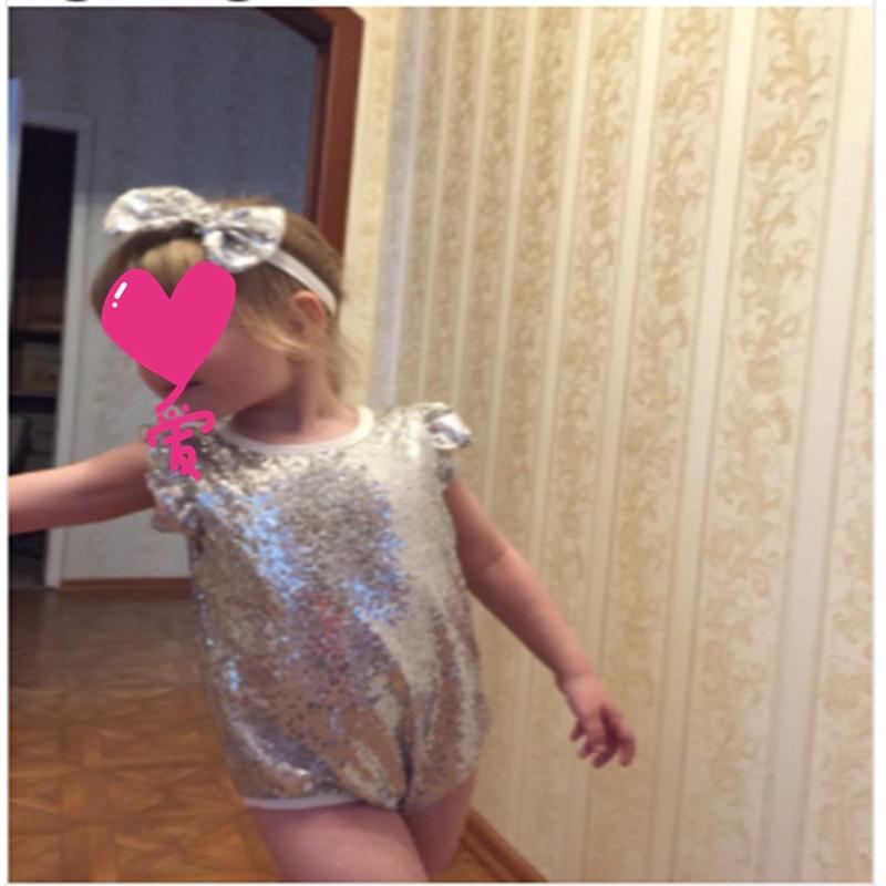 2018 Baby Girl Sequined Romper Newborn Infant New Year New Fashion - Հագուստ նորածինների համար - Լուսանկար 5