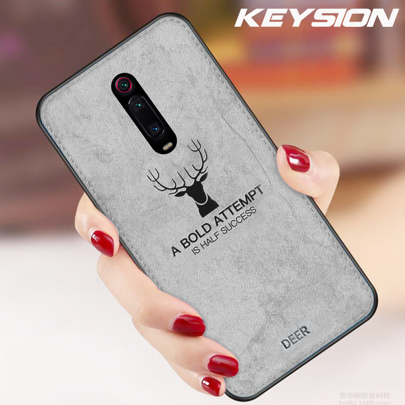 KEYSION Cloth-Case Back-Cover Shockproof Deer Redmi K20 K20pro Note7 Xiaomi Mi9t Silicone