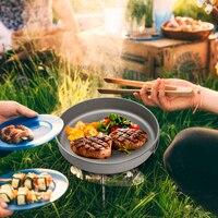 Outdoor Ultralight Titanium Frypan Outdoor camping Hiking Picnic Cooking Frying Pan Hiking Picnic Cooking Picnic