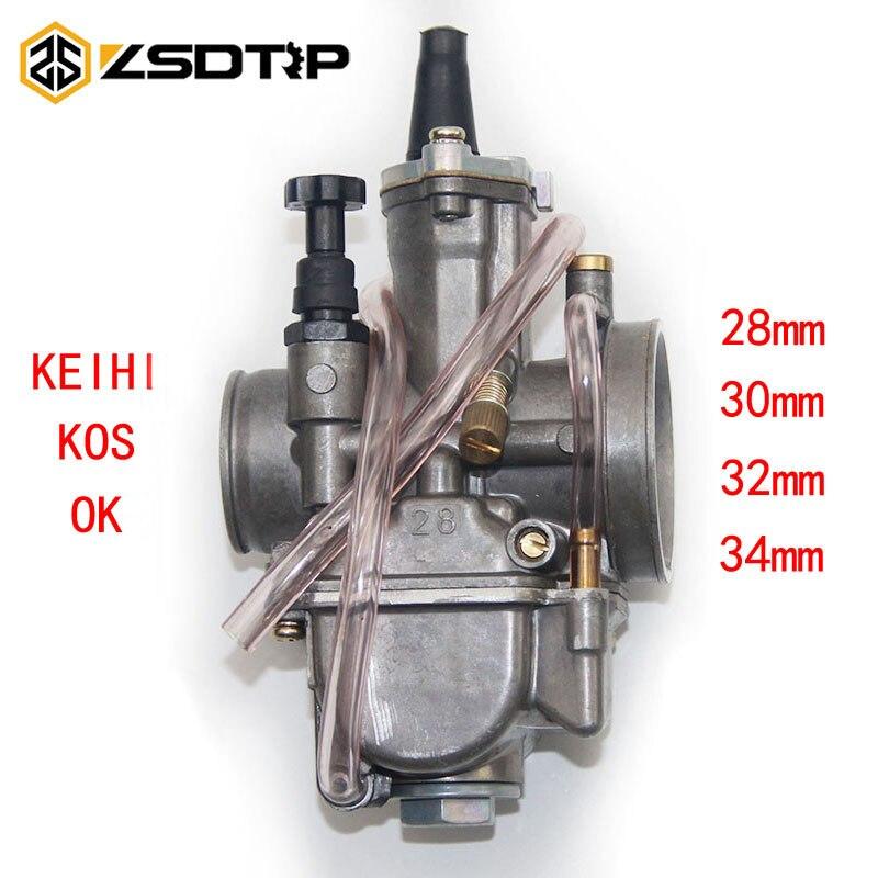 Zsdtrp frete grátis 28 30 32 34mm koso keihin oko marca motocicleta carburador com venda mostrar pacote
