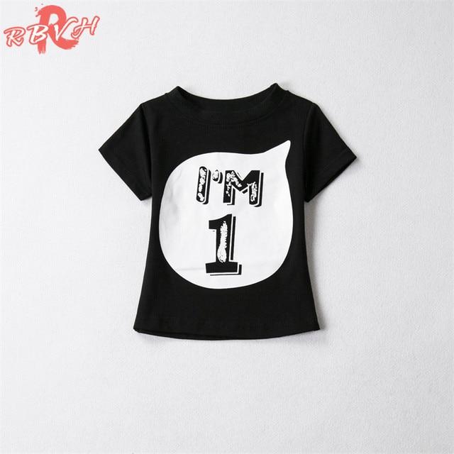 Uitzonderlijk Kleine Baby Meisje Koele T shirt Tops Kleding Wit Zwarte Shirts &KE83
