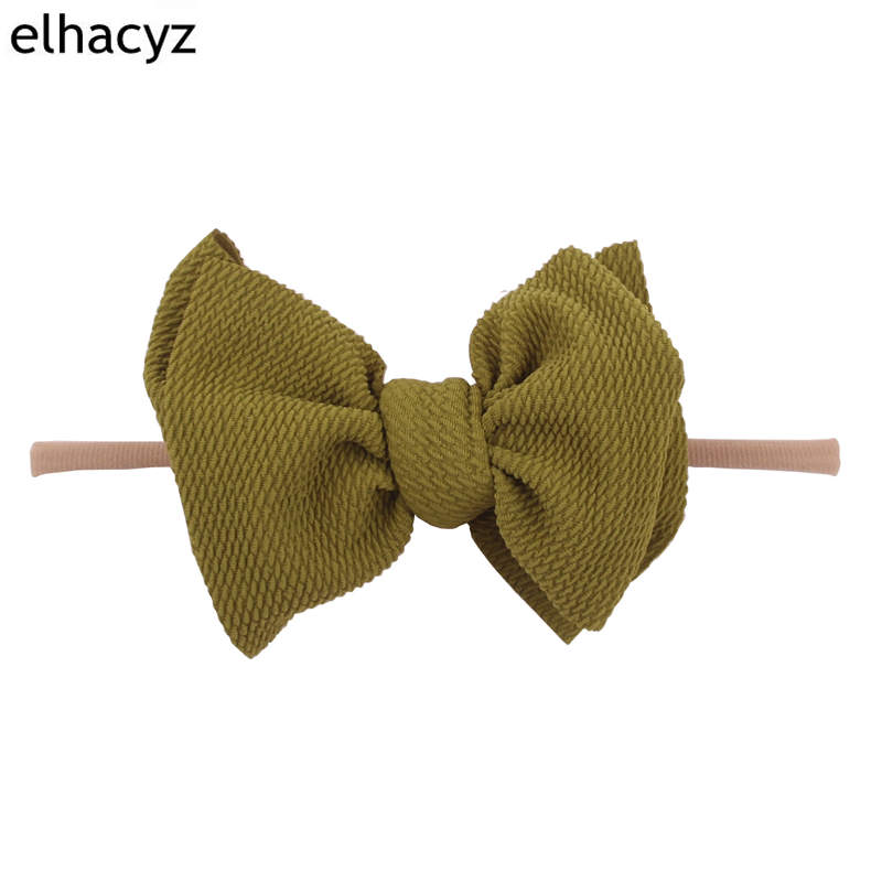 2019 New Arrival 7 39 39 Hair Bows Hairband Texture Nylon Headbands For Girls Soft Solid Elastic Kids DIY Hair Accessories in Hair Accessories from Mother amp Kids