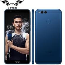 """Huawei Honor 7x мобильный телефон с 5.93 """"полный Экран 4 г 32 г Восьмиядерный KIRIN 659 двойной сзади камера 2160*1080 P отпечатков пальцев 3340 мАч"""