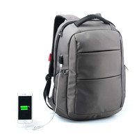 Kingsons Men Laptop Backpack For 15 Inch USB Anti Theft Computer Backpack Male Waterproof Bags Black