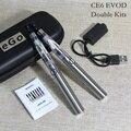 E-xy duplo ego ce6 CE4 + vaporizador CE4 + cigarros eletrônicos Kit 1.6 ml atomizador com 900 mah EVOD bateria zipper caso Kit