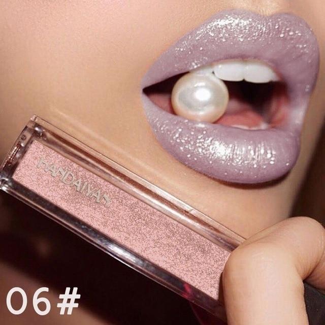 HANDAIYAN Beauty Makeup Long Lasting Matte Liquid Lipstick Red Lips Waterproof Metallic Lip Gloss Cosmetic Make UP