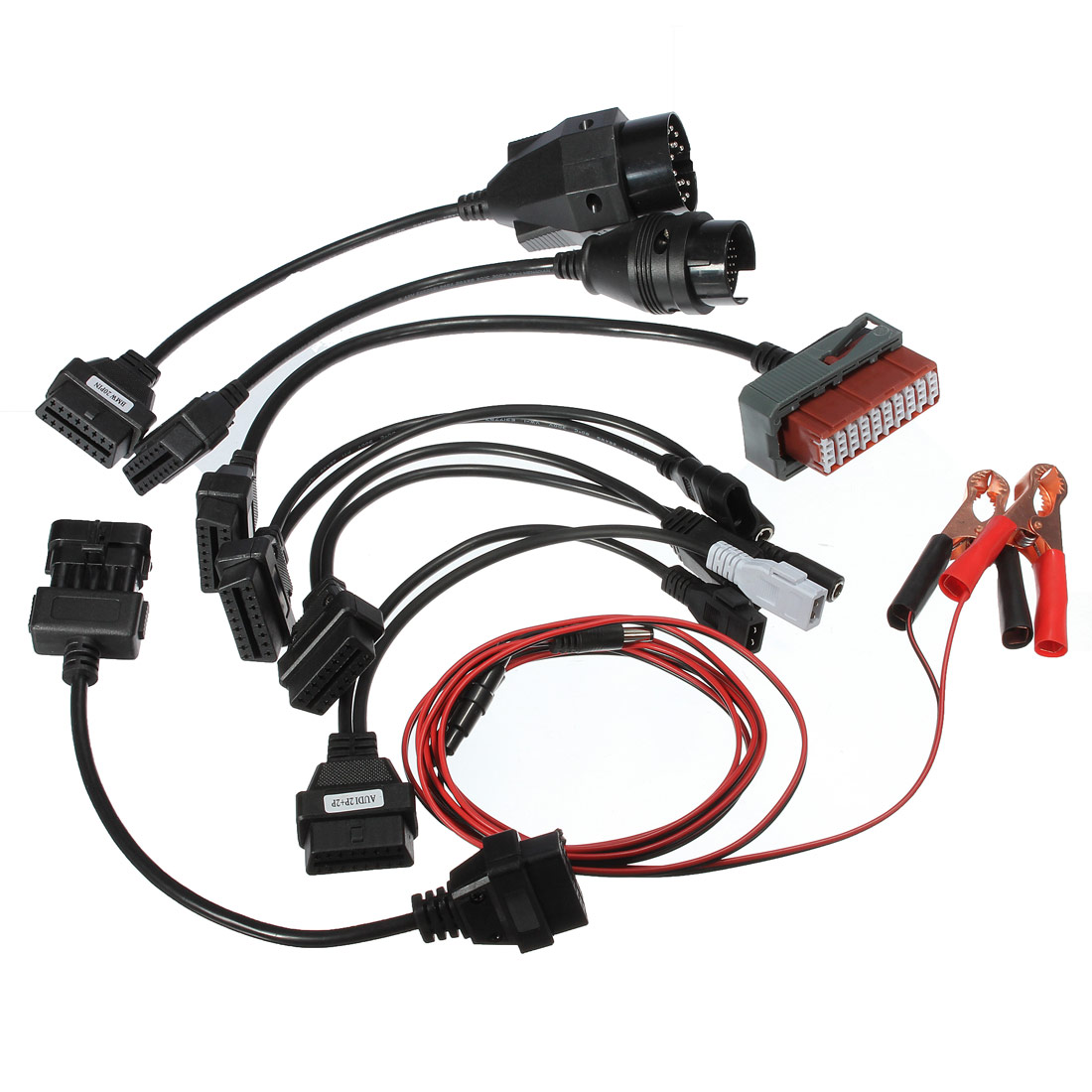 Obd2 obd car diagnostic adaptor interface cables kit 8pcs