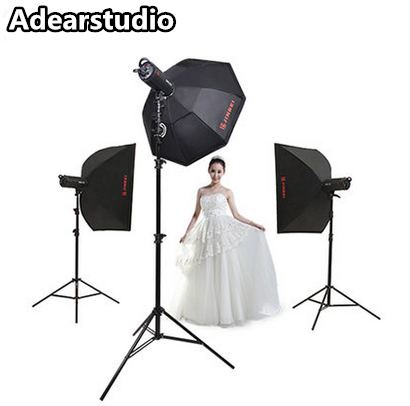 Jinbei 600w400W Professional Photographic Studio Strobe Flash Light Kit-Barn Door, Soft Box, Stands, Lamps, Trigger &More NO00DC jinbei em 35x140 grids soft box