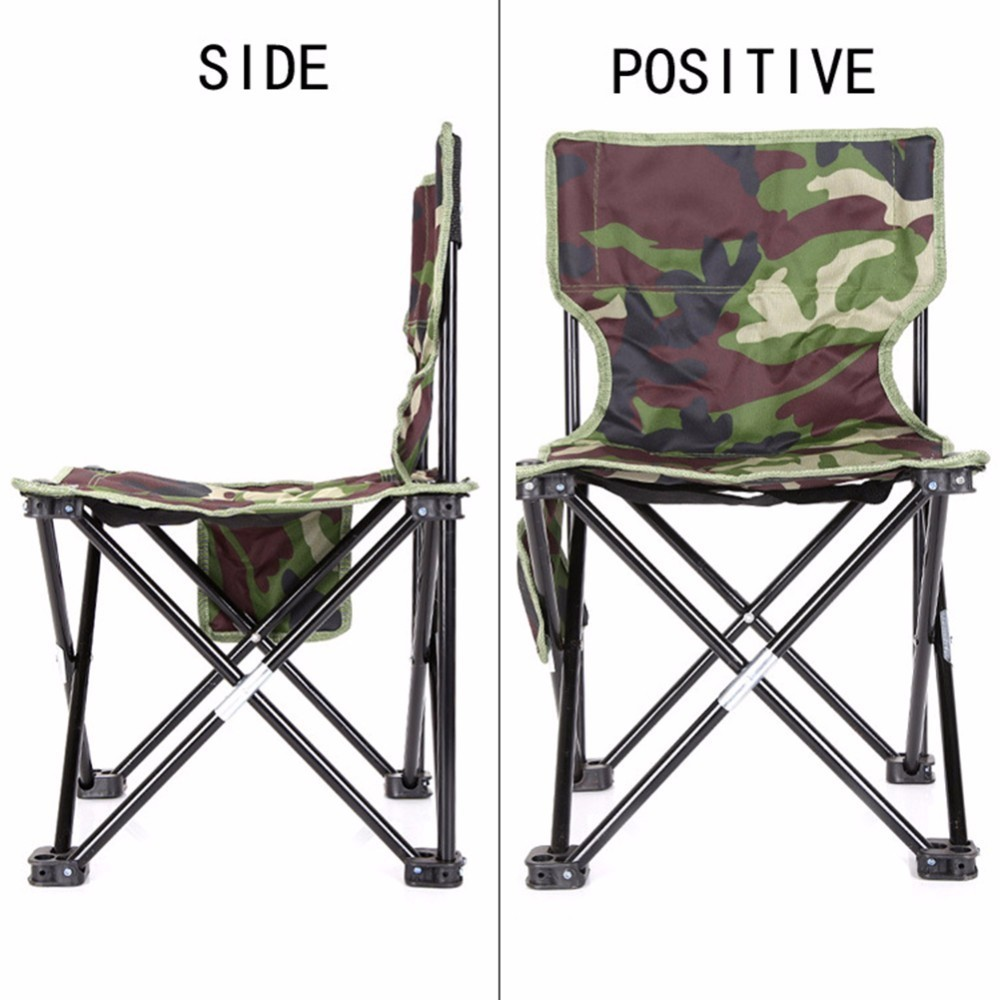 Fine Outdoor Fishing Chair Camouflage Folding Chair Camping Hiking Chair Beach Picnic Rest Seat Stool 33 X 33 X 53Cm Inzonedesignstudio Interior Chair Design Inzonedesignstudiocom