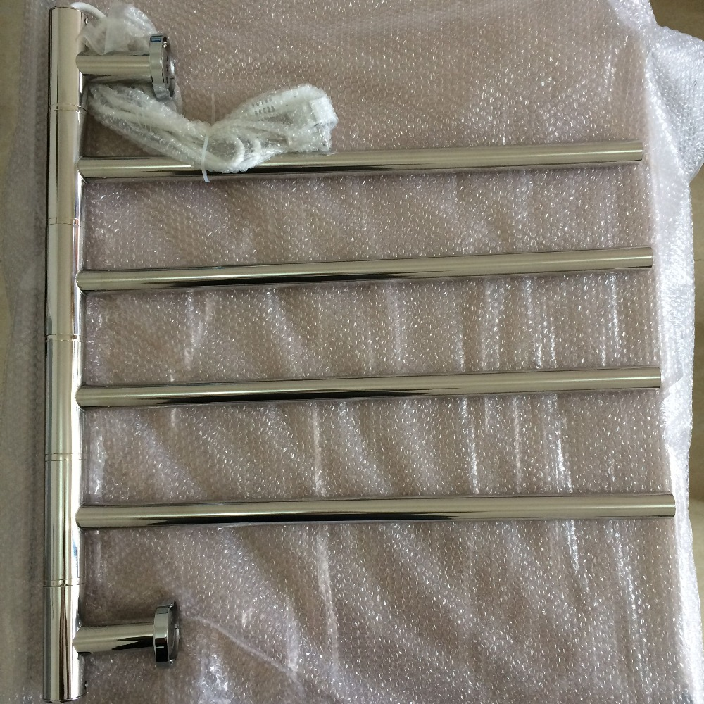 rotatable heated towel rail holder bathroom towel rack stainless steel electric towel warmer