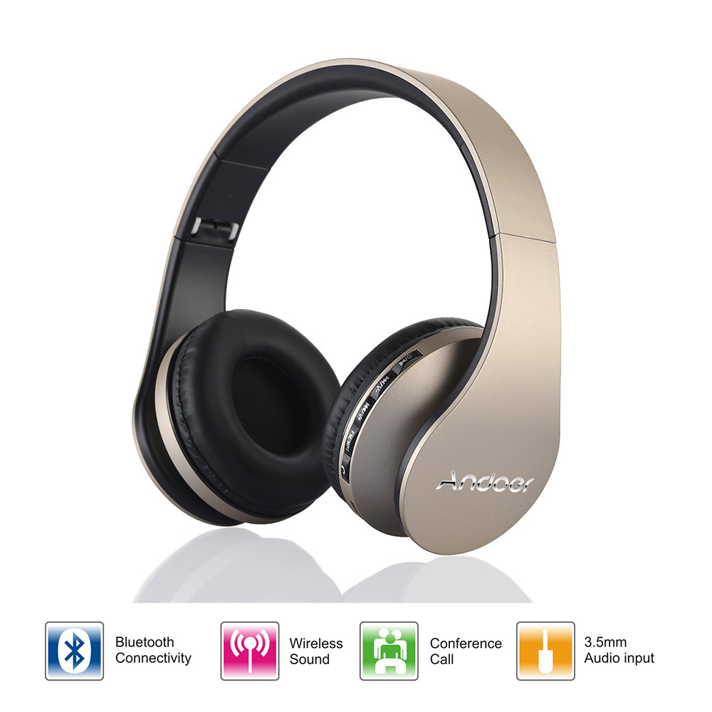 Enthusiastic New Portable Wireless Bluetooth Headset Foldable Stereo Adjustable Mp3 Audio Tf Card Input With Microphone Headset Earphones & Headphones