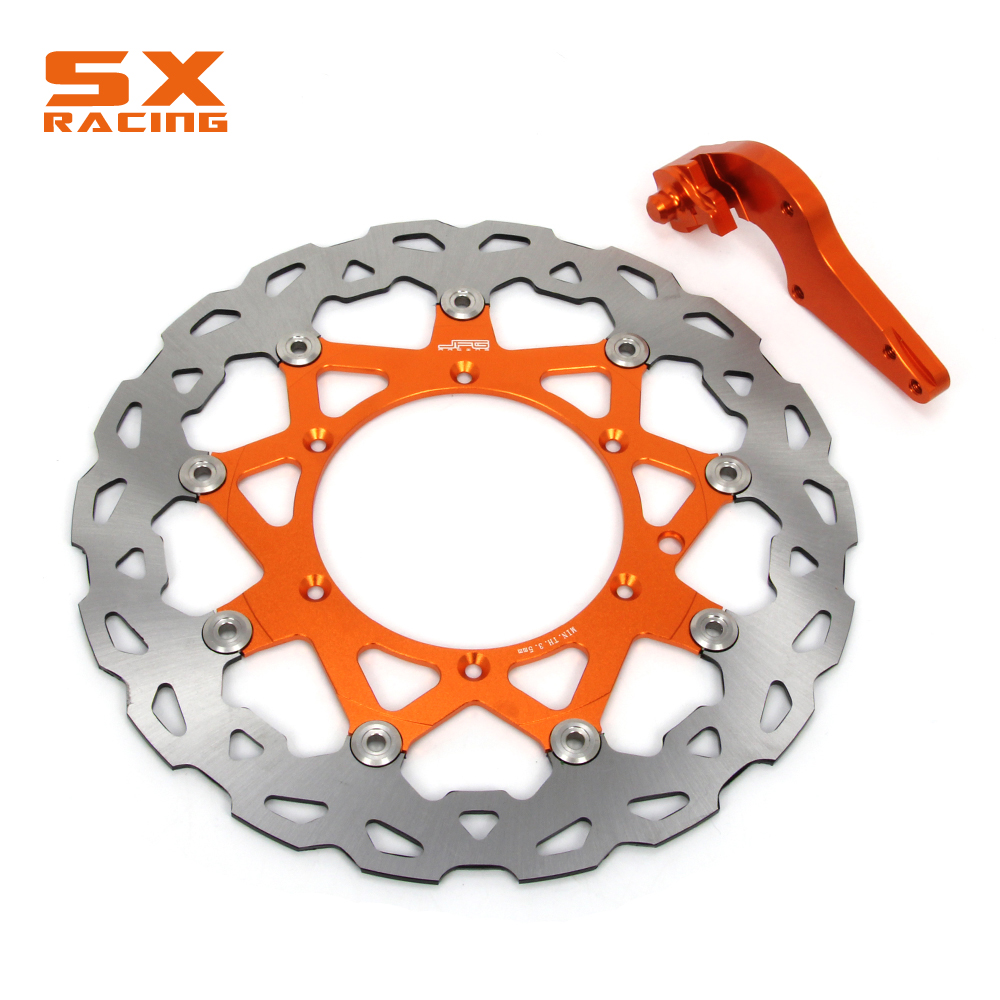 Motorcycle Front Floating Brake Disc And Bracket For KTM EXC SX125 144 150 250 XC200 250 300 XCW200 250 300 400 450 530 SXF XCF motorcycle front and rear brake pads for ktm egs lse exc 400 all models 1998 2006 black brake disc pad