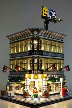 Kit d'éclairage LED (seulement lumière incluse) pour 10211 Grand Emporium Compatible avec 15005 blocs de construction de modèle de créateur de ville