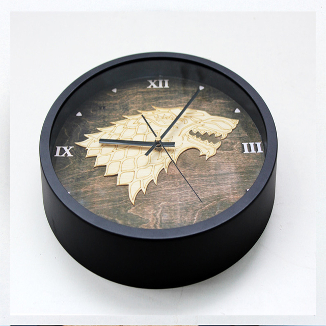 OUYUN Big Tiger Sign Wall Clock Game Creative Fashion Stereo Clock Watch  For Family Room