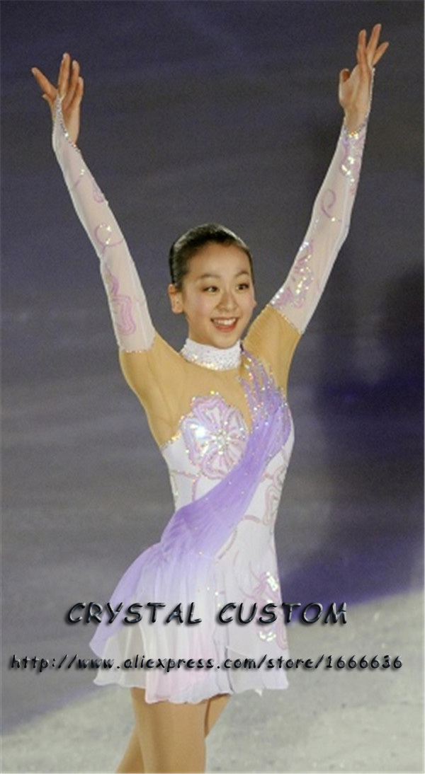 Custom Figure Skating Dresses For Women  With Spandex  Graceful New Brand Figure Skating Competition Dress Girls DR2703