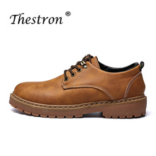 Thestron Best selling Men Winter Boots With Fur Brand Comfortable High Top Working Popular Brown Gold Safety