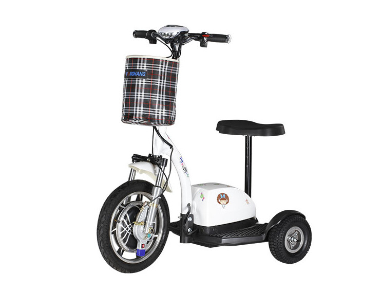 Scooter électrique Tricycle Électrique vélo Électrique Citycoco avec Trois Roues Livraison Gratuite pour Homme Âgé Femme 450 w 48 v