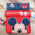 Mickey Mouse cartoon bedding setsTwin/ full/Queen Size 3pcs/4pcs Bed Linen Bed Sheets Duvet Cover Set Give you a lovely home