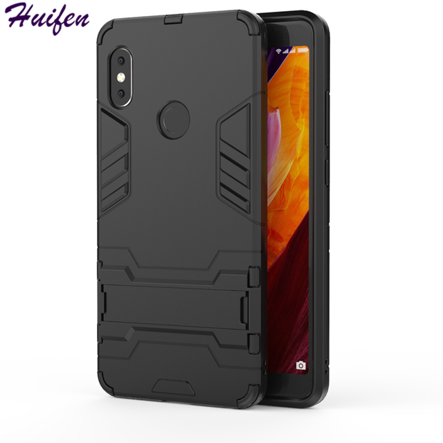 631af766f13 For Xiaomi Redmi Note 5 Pro Case Note5 Pro Hybrid TPU PC Iron Man Shield Cover  Stand Holder Silicone Capa For Redmi Note5 (XX12