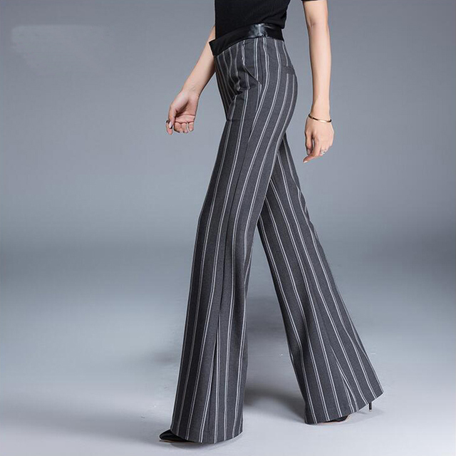 Favoriete Vrouwen Hoge Taille Gestreepte Broek 2018 Lente Herfst Mode Dames #JB93