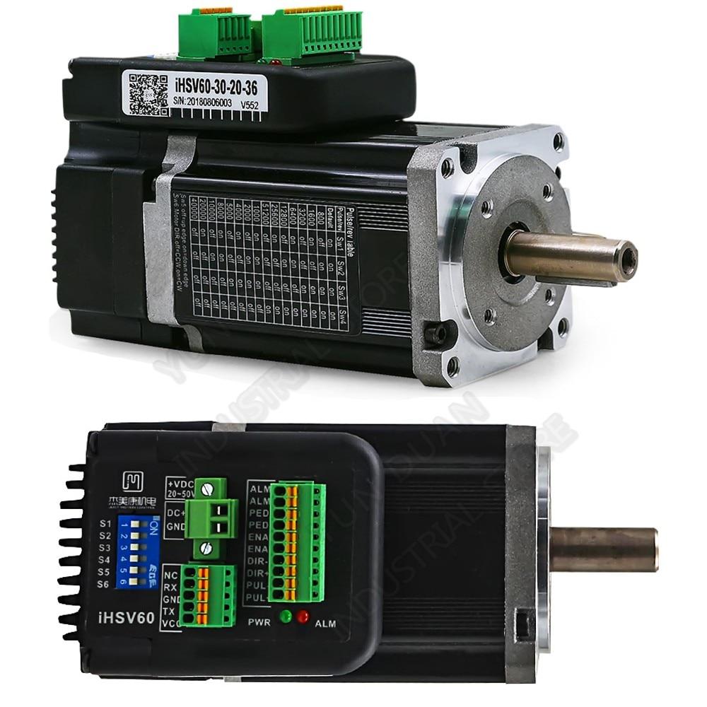 200 W 60mm Servo Intégré 3000 TR/MIN 0.65Nm DC36V 8.5A 3 Phase DSP boucle fermée Hybride 60 nema24 Moteur Encodeur pour robot CNC
